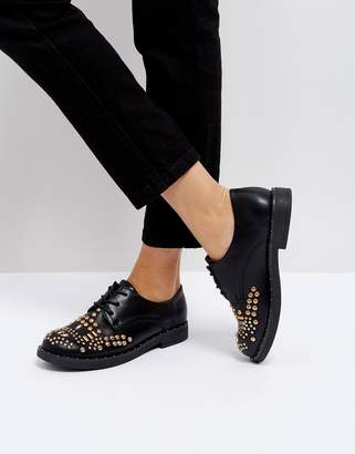 Park Lane Studded Flat Shoe