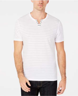 INC International Concepts I.n.c. Men's Split-Neck Perforated T-Shirt