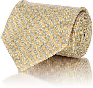Salvatore Ferragamo Men's Gancio-Print Silk Twill Necktie