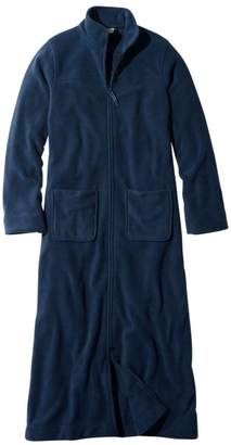 L.L. Bean L.L.Bean Women's Winter Fleece Robe, Zip-Front