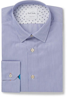 Paul Smith Soho Slim-Fit Pinstriped End-On-End Cotton Shirt