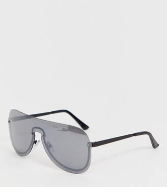 Monki d-frame sunglasses in black