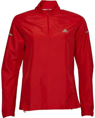 adidas Womens Sequencials 1/2 Zip Climaproof Running Anorak Ray Red