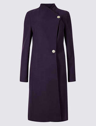 Marks and Spencer Funnel Neck Coat