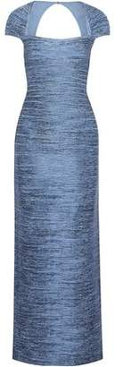 Herve Leger Open-Back Coated Bandage Gown