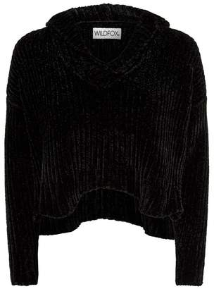 Wildfox Couture Chenille Crop Hoodie