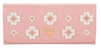 Prada Saffiano Floral Wallet