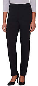 Joan Rivers Classics Collection Joan Rivers Petite Ponte Knit Pull-on TuxedoPants Grosgrain