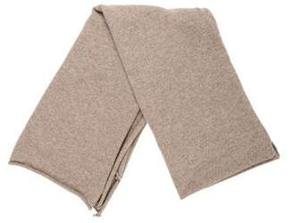 Allude Two-Tone Knit Scarf
