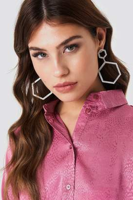 Na Kd Accessories Rhinestone Hexagon Earrings