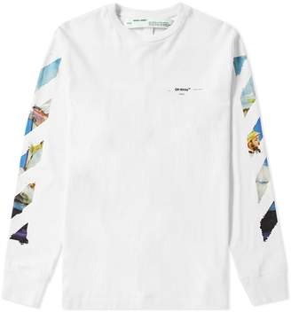 Off-White Off White Long Sleeve Colour Painting Diagonals Tee