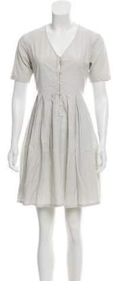 Steven Alan Striped Short Sleeve Mini Dress