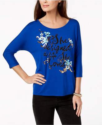 Thalia Sodi Graphic-Print T-Shirt, Created for Macy's
