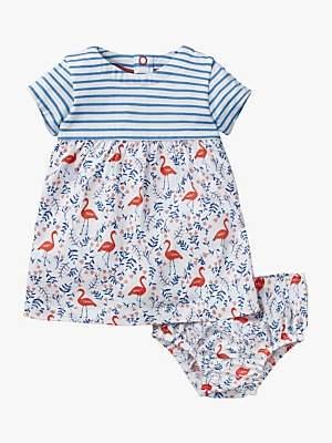 Boden Mini Baby Jersey Flamingo Dress, Multi