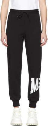 MSGM Black Palm Tree Lounge Pants