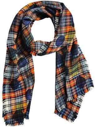 Burberry dot print tartan scarf