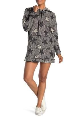 Splendid Metallic Star Sweatshirt Dress