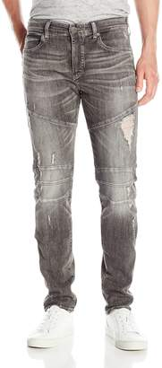 "True Religion Men's 1/4"" Se Rocco Biker Grey"