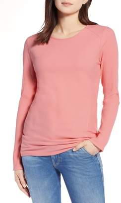 Halogen Long Sleeve Knit Cotton Tee