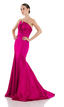 Theia - 881898 Strapless Structured Evening Gown $984 thestylecure.com
