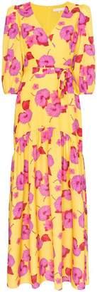 Borgo de Nor Floral-print tiered-hem maxi dress