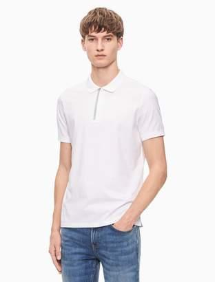 Calvin Klein regular fit zip polo shirt