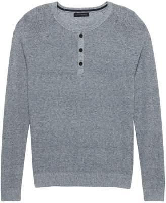 Banana Republic Silk Linen Henley Sweater