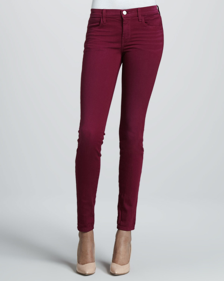 J Brand Jeans 620 Super Skinny Washed Loganberry Jeans