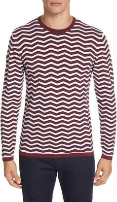 Emporio Armani Wave Stripe Crewneck Sweater