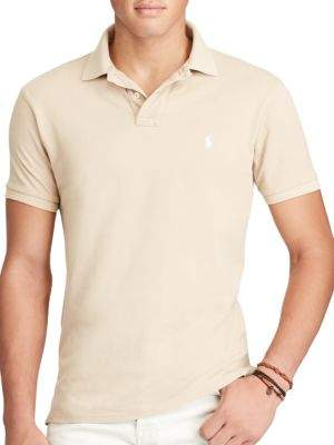Polo Ralph Lauren Slim Fit Weathered Mesh Polo
