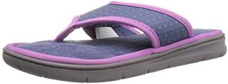 Dearfoams Women's Perfed Nylon Thong Slip on Slipper