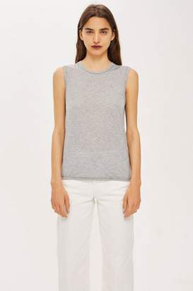 Topshop Raw Seam Easy Tank Top by Boutique