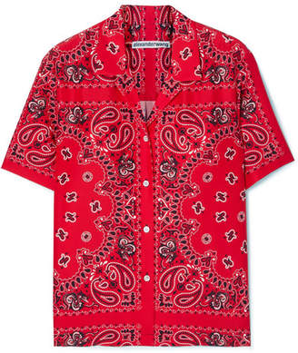 Alexander Wang Printed Silk Shirt