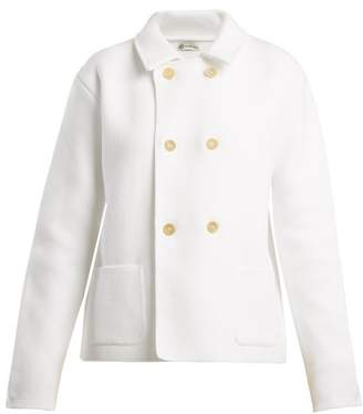 Connolly - Double Breasted Cotton Pique Cardigan - Womens - White