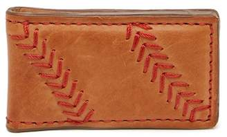 Rawlings Sports Accessories Baseball Stitch Leather Magnetic Money Clip