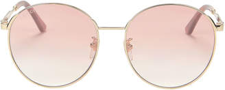 Gucci Pink Round Sunglasses