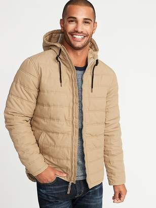 Old Navy Quilted Cotton Hooded Jacket for Men