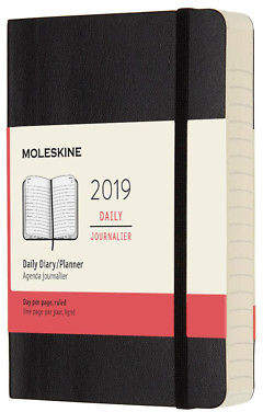 Moleskine NEW 2019 Daily Diary Soft Cover Black Large