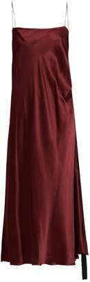 Ellery Tony ruched-side silk-satin slip dress