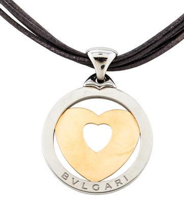 Bvlgari Bvlgari Tondo Heart Pendant Necklace