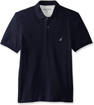 Nautica Men's Standard Short Sleeve Solid Cotton Pique Polo Shirt