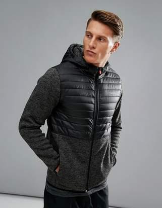 Jack and Jones Tech Fleece Zip Quilted Jacket in Tech Dry Fabric