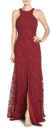 Women's Vera Wang Lace Gown $428 thestylecure.com