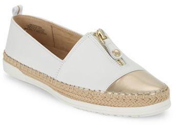Anne KleinAnne Klein Zipdown? Leather Espadrille Loafers