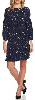 CeCe Tossed Ditsy Print Knit Shift Dress