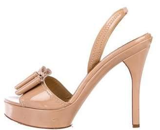 Valentino Bow Slingback Sandals