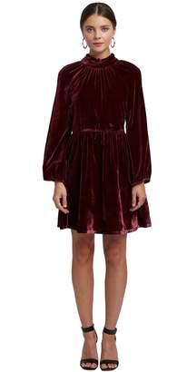 Rachel Pally Celestia Dress - Bordeaux Velvet