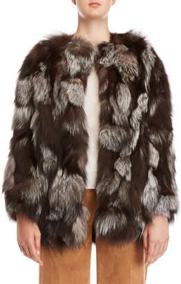 Yves Salomon Meteo By Real Fur Topper Coat