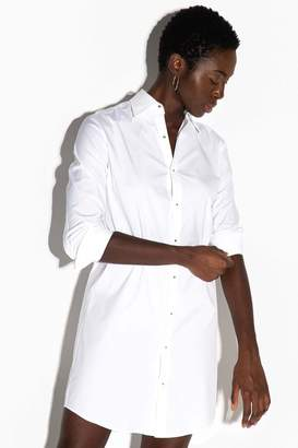 Misha Nonoo The Husband Shirt Dress With Gold Studs