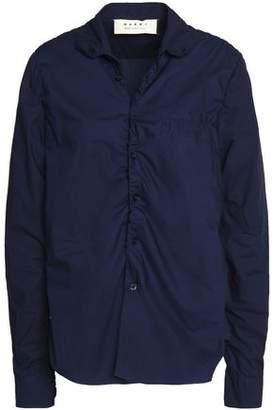 Marni Ruched Cotton-Poplin Shirt